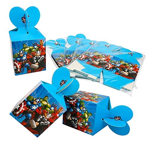 Gxhong Borse Festa per Bambini,24pcs Scatole per Caramelle The Avengers Sacchettini del per Festa di Compleanno Supereroe Sacchetti Caramelle Compleanno Bambini,per Compleanno Matrimonio Celebrazione