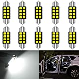 KATUR 36mm 6418 6461 LED Super Brillante 5630 Chipsets CanBus de Aluminio Festoon sin Erro...