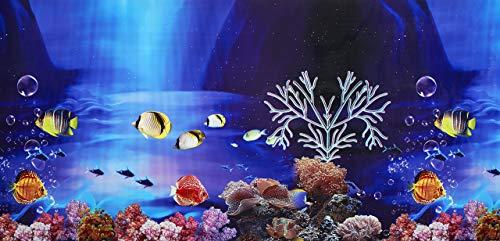 pistacchio Pet–fronte-retro sfondo acquario poster, 48x 100cm