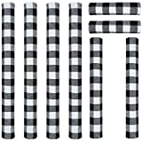ZAWAGIIK Christmas Refrigerator Handle Covers Set of 8 Black and White Buffalo Plaid Christmas Handle Cover Decorations Kitchen Appliance Handle Covers for Fridge Microwave Oven Dishwasher
