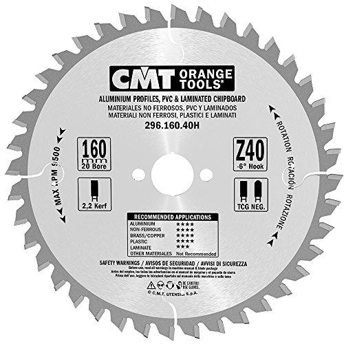 CMT Orange Tools 296,160,40H Scie circulaire 160 x 2,2 x 20 z tcg-6 40°