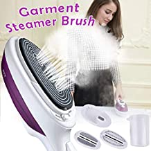 Luckyfine 800W Portable Travel Iron, Mini Steam Irons Ceramic Base Plate Handheld Garment Steamer for Fast Heating, Perfect for Home, Vacation and Business Travel