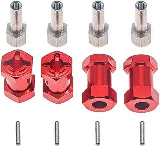 4Pcs 12mm Wheel Hex Hub 20mm Extension Adaptor Longer Combiner Coupler for 1/10 RC Crawler Scx10 D90(Red