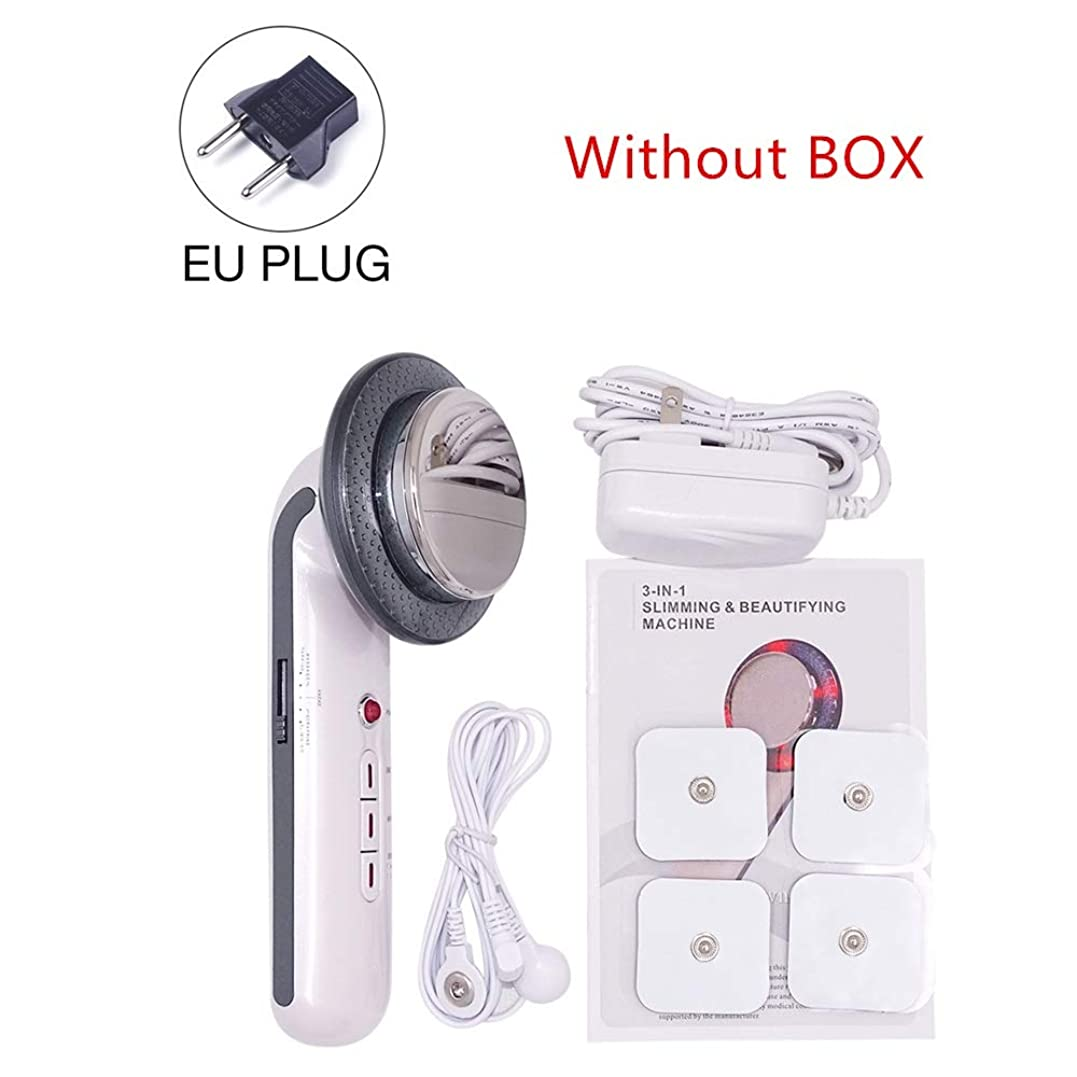 乱気流パテ証人1MHzの超音波キャビテーションEMSボディスリミングエレクトリック超音波減量治療装置フェイススキンケア美容ツールマッサージャー (Color : EU no box)
