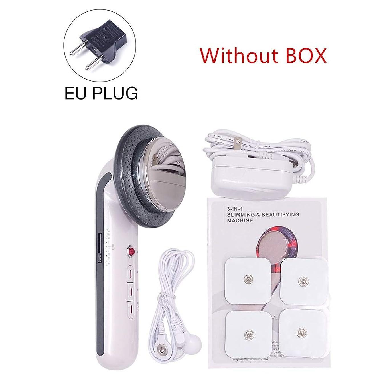 導入する軽蔑するおんどり1MHzの超音波キャビテーションEMSボディスリミングエレクトリック超音波減量治療装置フェイススキンケア美容ツールマッサージャー (Color : EU no box)