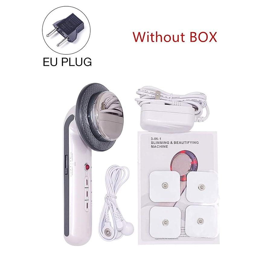 前提条件合理的屈辱する1MHzの超音波キャビテーションEMSボディスリミングエレクトリック超音波減量治療装置フェイススキンケア美容ツールマッサージャー (Color : EU no box)