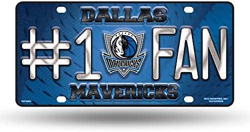 Rico Nba Dallas Mavericks 1 Fan Metal License Plate Tag Sport Freizeit