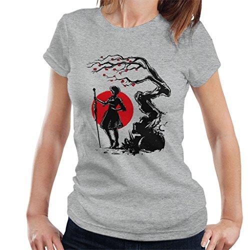 Nier Automata 2B Under The Sun Womens T-Shirt
