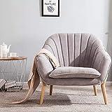 Lifelook Loungesessel Polstersessel Lesesessel mit Armlehnen Gelegentlicher Stuhl mit Massivholzbeinen
