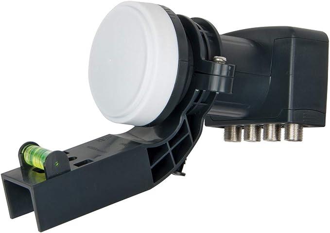 Tete Universelle pour Parabole avec support MK4 SLx LNB 4 Sorties 4K R/éception HD UHD compatible avec SKY HD Full HD