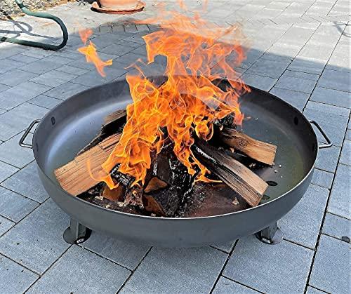 Czaja Stanzteile Feuerschale Bonn Ø 80 cm - mit Wasserablaufbohrung - Feuerschalen für den Garten,...