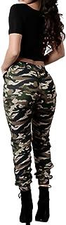 Topgrowth Pantaloni Mimetici Donna A Vita Alta Militare Casuale Sciolto Pantaloni Elastico Traspirante Trousers