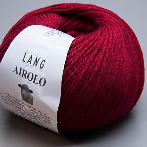 Lang Yarns Airolo 0061 garnet 100g Wolle