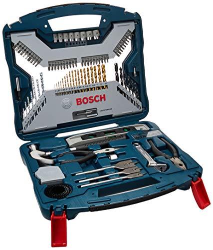 Kit de Pontas e Brocas em Titânio Bosch X-Line para parafusar e perfurar com 103 unidades