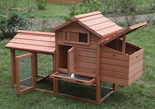 Ardinbir Deluxe 58' Wood Chicken Coop Hen House Rabbit Hutch Pet Cage w Run Nesting Box
