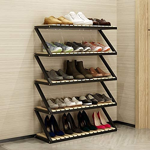N/Z Home Equipment Shoe Rack Multi Layer Simple Solid Wood Household Large Capacity Storage Rack Hall Cabinet Multi Function Creative Shoe Rack Rack Space Saving Design Easy to Assemble