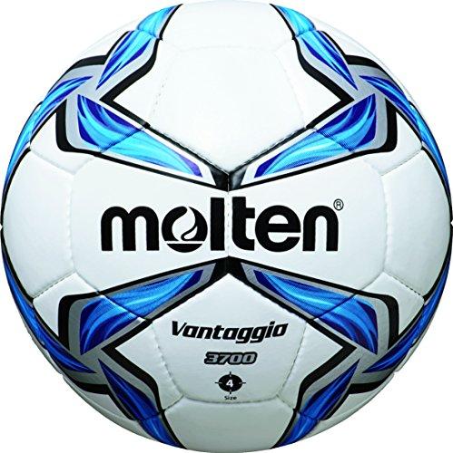 molten Fußball F4V3700, Weiß/Blau/Silber, 4, F4V3700