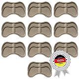 10 Parejas de Pegatinas de Talón | Almohadillas de Talón Autoadhesivas para Tacones y Zapatos/Suelas Acolchadas | Plantillas Taloneras útiles contra dolores y ampollas | Beige