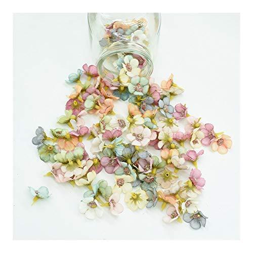LANTIANXIAN 50pcs Silk Gänseblümchen-Multicolor-Fälschungs-Blüte Scrapbooking DIY Weihnachtsgirlande Günstige Künstliche Blumen for Hauptdekor (Farbe : Mix 50pcs)
