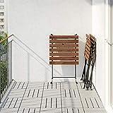 Ikea Tärnö - Mesa y 2sillas para exterior de madera de acacia y acero negro
