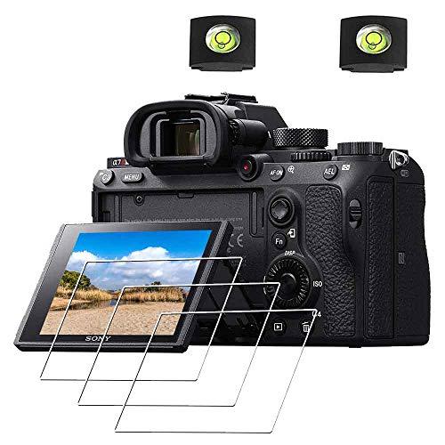 ULBTER - Protezione schermo Pellicola protettiva per fotocamera Sony Alpha A7R III /A7R II/A7 III /A7 II/A77 II/A7S II/A99 II/A9 & Custodia Hotshoe, 0,3mm in vetro temperato durezza 9H [3 pezzi]