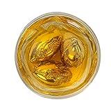 WHISKY GIFT SET DE 4 CUBOS DE HIELO FORJADOS CON ACERO INOXIDABLE. Regalos geniales para hombres, padre, papá, mejor hombre, bodas. Enfriadoras reutilizables de cerveza de vino escocés enfriando rocas