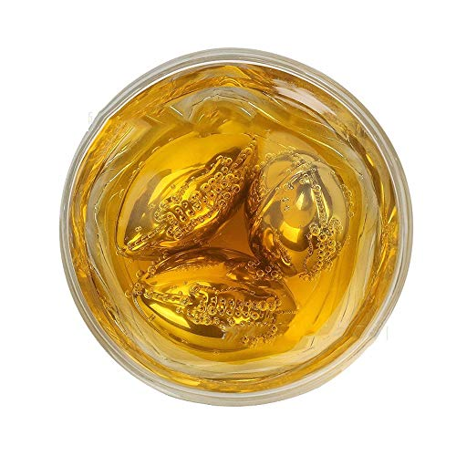 HBLWX Whisky-Geschenk-Set VON 4 Rugby-EISCUBES AUS Edelstahl Männer, Vater, Papa, Trauzeuge, Hochzeiten. Scotch Wine Beer Wiederverwendbare Chillers Chilling Rocks
