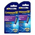 Compound W Wart Remover Fast Acting Gel, Maximum Strength Salicylic Acid, 0.25 oz, 2 Pack