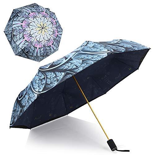 Kobold Double Layer Compact Flower Folding Umbrella with UV Protection Teflon Coating and Ergonomic Handle
