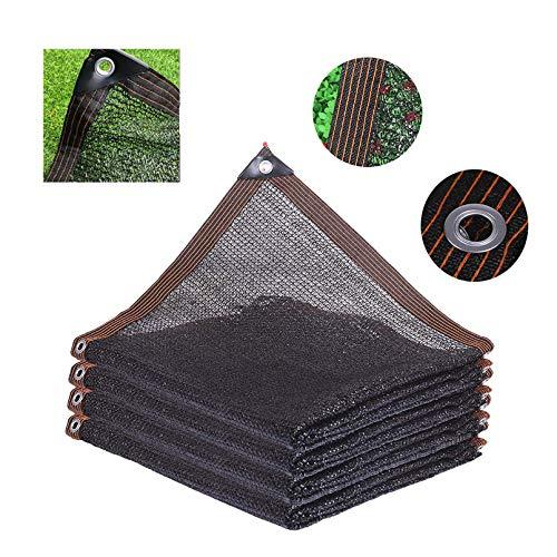 JKLJL Red de sombra 92% de tela de sombra, color negro, con bordes perforados, para patio, techo, invernadero, cubierta de plantas, terraza, pérgola, almacenamiento o cobertizo de coche, 12 pines.