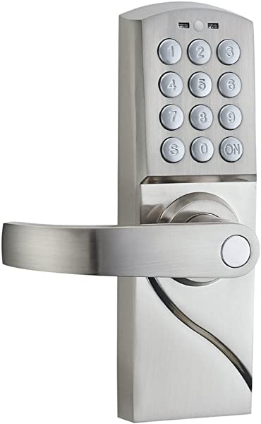 HAIFUAN Left Hand Digital Keypad Door Lock With Backup Keys Electronic Keyless Entry By Password Code Combination For Left Handed Doors Only