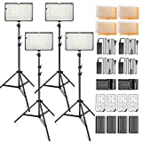 SAMTIAN Dimmable 240PCS LED Photo Light Kit, 3200K 5600K LED Video Panel Light, 78 Inches Light Stand with Remote Control for Studio Photography and YouTube Video Shooting