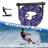 SCXLF Corde da Sci Nautico, 1700 Lbs Tensione Corde da Wakeboard, Manico in Gomma, Corda di Traino da 75 Piedi per Tavola da Surf per Motoscafo, Blu, 1 Sezione
