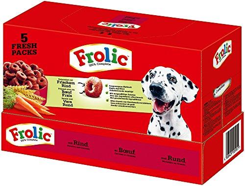 Frolic hondenvoer droogvoer met rund, wortelen en granen, 1 doos (1 x 7,5 kg)