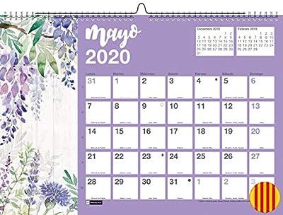 Miquelrius 28354 - Calendario de Pared A3 para escribir Flores 2020 Catalán de Miquel Rius