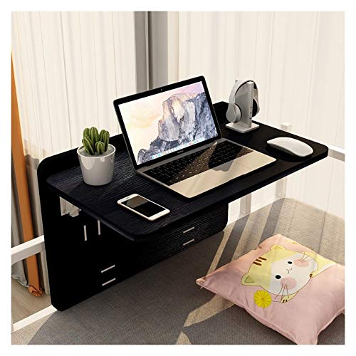 GHHZZQ Wall-mounted Folding Desk Space Saving Storage Rack Shelf Perfect Addition to Children's Room Dorm Room High And Low Beds, Multiple Colour (Color : C, Size : 75x33cm)