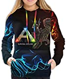 Rogerds Kapuzenpullover Womens ARK-Survival-Evolved Game Logo Winter Hoodie Sweatershirt Langarm-Pullover Hoodies for Women Clothes