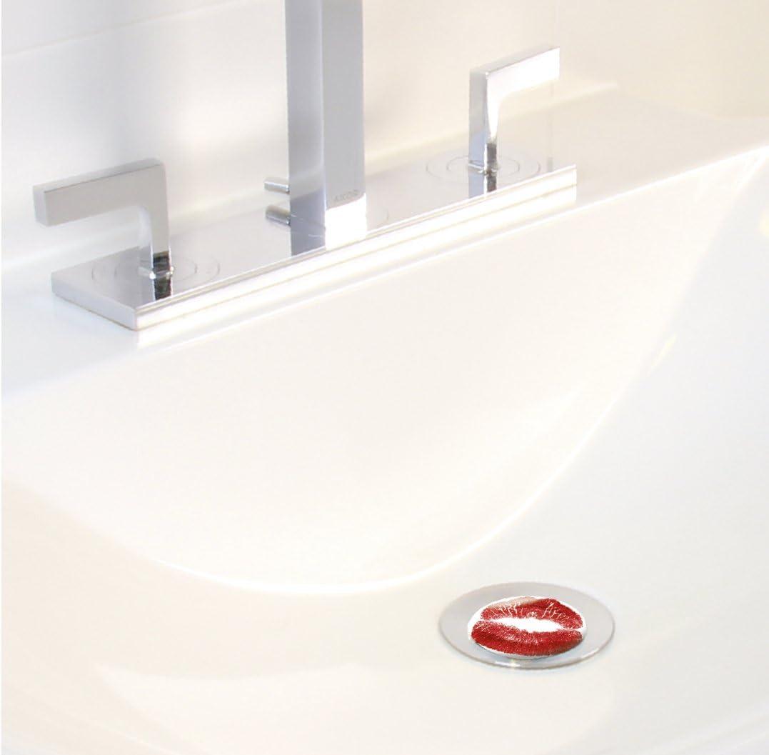 WENKO 21097100 Waschbeckenst/öpsel Pluggy/® Lacher 3.9 x 6.5 x 3.9 cm Kunststoff Mehrfarbig Abfluss-Stopfen f/ür alle handels/üblichen Abfl/üsse