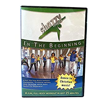 Shazzy Fitness  in The Beginning DVD Dance Workout - Beginner Low Impact Faith Based Home Cardio Exercise Video for All - Adults Women Kids Seniors - with Christian Music Blue