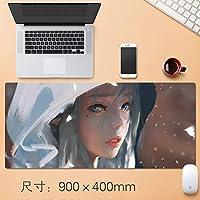 Vampsky 拡張大型プロフェッショナルゲーミングマウスパッド日本のアニメミラー美容表マット用コンピュータホームオフィス厚み付けすべり止めラバーベース耐水性デスクマットノートパソコンのキーボードパッド90 * 40センチメートル (サイズ : Thickness: 3mm)