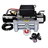 Yescom Electric Recovery Winch 8000lbs 5.5HP 12V Remote Switch Truck Trailer Towing Pulling Compatible with ATV SUV Jeep