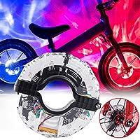 YINKUU 自転車 ホイールライト 自転車タイヤ用ライト 防水 安全性 7色 usb led ライト 充電式 夜間 事故 防止 安全警告ライト