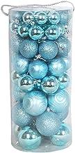 66 Pcs Christmas Shatterproof Balls Ornament Xmas Hanging Pendant Baubles Christmas Tree Decoration Blue