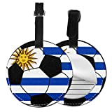 Uruguay - Etiquetas redondas para equipaje de piel, Negro (Negro) - Lp7bgrc-47225607