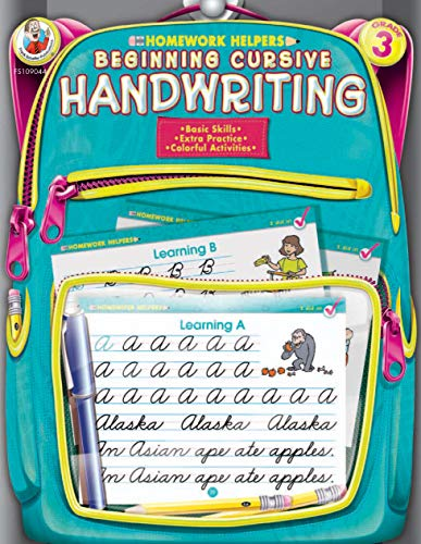 Beginning Cursive Handwriting Grade 3 Homework Helper