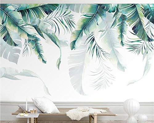 XLXBH 3D-behang zelfklevend wandschilderij fotobehang wijnoogst tropisch behang van het regenwoud palmenbanaanblad-wandschilderij café-restaurantondergrond 3D, kinderkamer kantoor eetkamer woonkamer decoratie 520x290 cm (BxH) 11 Streifen - selbstklebend