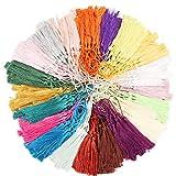 HANDI STITCH Quasten (300 STK) in 20 Farben (Je 15 STK pro Farbe) - 13cm Quaste Tassel Handgefertigt mit Schlaufe, Fransen Bommel als Anhänger, Schmuck, Deko, Basteln, Lesezeichen, Schlüsselanhänger