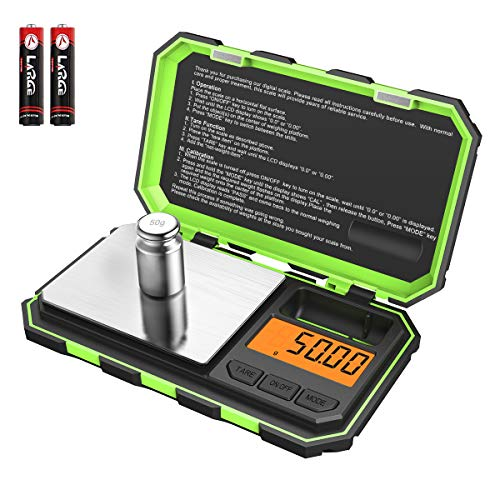 (New Version) Brifit Mini Digital Weighing Scale, 100g-0.01g Pocket Scale, Electronic Smart Scale with 50g Calibration…