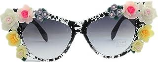 女性 サングラス ビーチ 手作り スペックルフレーム 紫外線保護 サングラス, ファッションサングラス