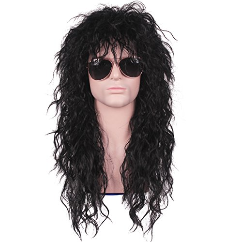 ColorGround Long 80s Fashion Smart Rocker Style Wig